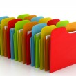 3d colorful folders — Stock Photo #25865625