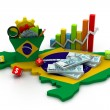 Stok fotoğraf: Financial Analysis with graphs and datin brazil