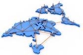 Global business network concept — Foto de Stock