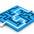 Stock Photo: Maze puzzle solved