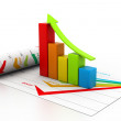 Business chart with growth graph — Stock Photo