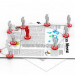Stock Photo: Target Business network concept