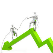 Business growth support — Stock Photo