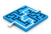 Maze puzzle solved — Stock Photo