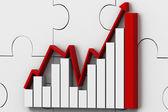 Graphe de succès commerciaux — Photo