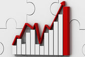 Obchodní úspěch graf — Stock fotografie