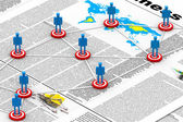 Target Business network. (business news concept) — Foto Stock