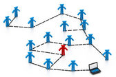Structured network concept — Stock Photo