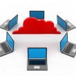 Cloud computing concept — Stock Photo #29767721
