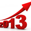 Growth of year 2013 — Stock Photo