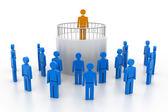 Líder com membros da equipe — Foto Stock