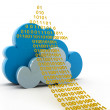 Cloud computing and uploading — Stock Photo #29867921