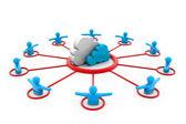 Cloud Computing and Users — Stock Photo