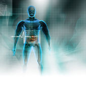 Human body in abstract digital design — Stock Photo
