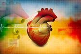 Digital illustration of Human heart — Stock Photo