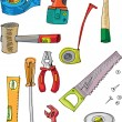 Set of tools - cartoon — Stock Vector