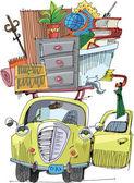 Auto travel - vintage — Stock Vector