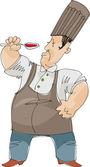 Testing chef - cartoon — Stock Vector