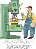 Metalworking - cartoon — Stock Vector