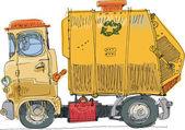 Garbage truck — Stock Vector