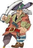 Pirate - cartoon — Stock Vector