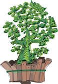 Exotic decorative plant - cartoon — Stock Vector