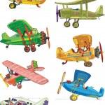 Set of vintage plane — Stock Vector