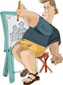 Artist - cartoon — Stock Vector