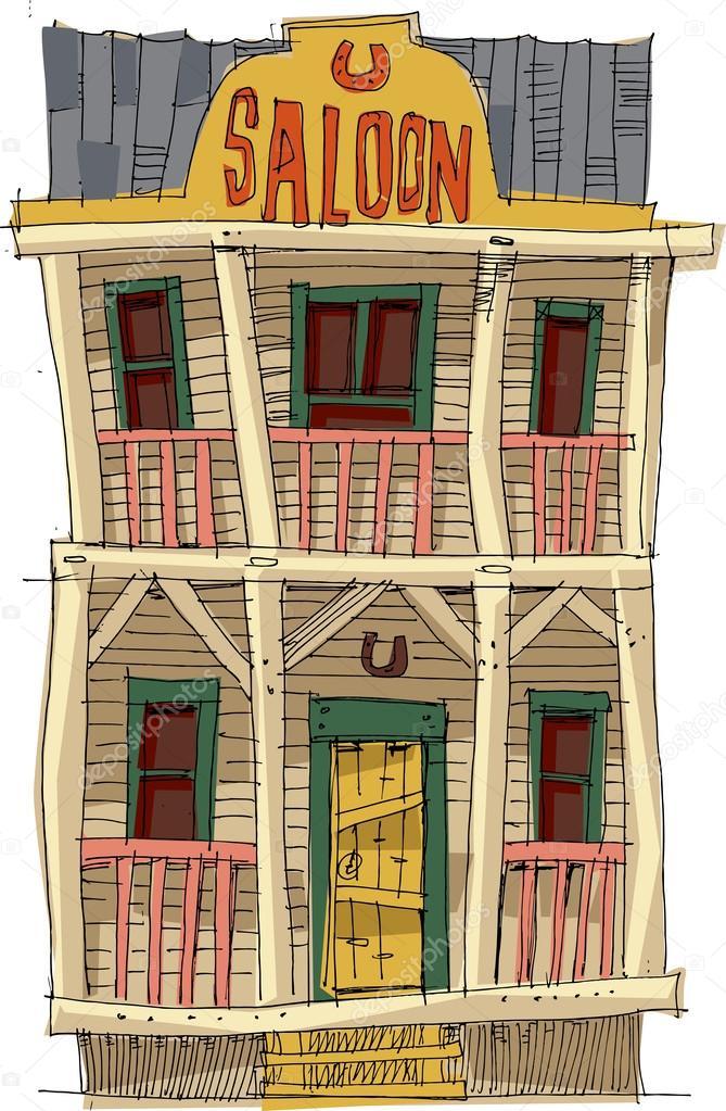 Berline am ricaine vintage dessin anim image - Dessin saloon ...