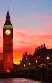 London. Big Ben clock tower. — Stock Photo