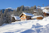 Winter holiday house — Stockfoto