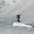 Snowboarder at jump - Stock Photo