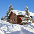 Winter in alps -  