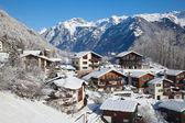 Winter ferienhaus — Stockfoto