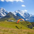 Royalty-Free Stock Photo: Paragliding in swiss alps