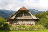 Traditional swiss farm house — Stock Photo