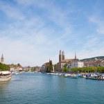 Zurich in summer — Stock Photo
