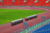 Piłka nożna pusty pole — Zdjęcie stockowe