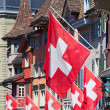 Swiss National Day in Zurich — Stock Photo