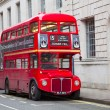Stock Photo: Red double decker