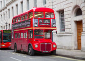 Red double decker — Stock Photo