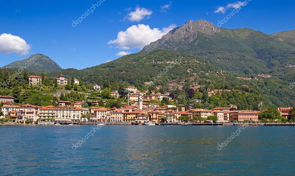 在意大利北部科摩湖著名周围的风景– 图库图片