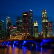 singapore river — Stock Photo
