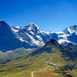 Mounts Eiger, Moench and Jungfrau — Stock Photo #34707097