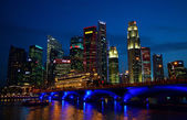 Río singapur — Foto de Stock