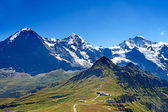 Mounts Eiger, Moench and Jungfrau — Stock Photo