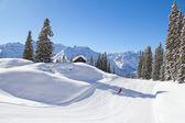 Skiing slope — Stockfoto