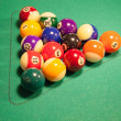 Stock Photo: Set of pool balls