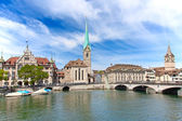 Zurich in summer — Stockfoto