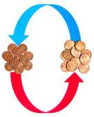 Exchange valuta — Stockfoto